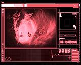 Pink and black digital interface showing vein interior