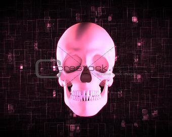 Pink human skull