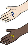 Hand with Question Mark