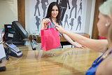 Woman at cash register
