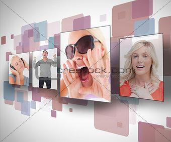 Four photos on digital wall