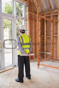 Architect standing in construction site
