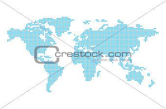 World map in pixels