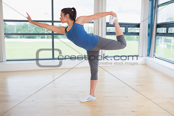 Woman doing yoga pose