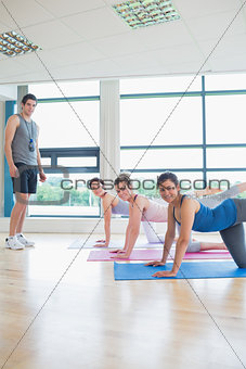 Yoga class with male instructor