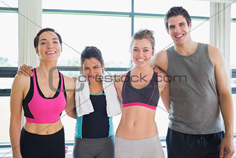 Smiling group at the gym