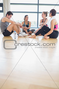 People sitting and talking