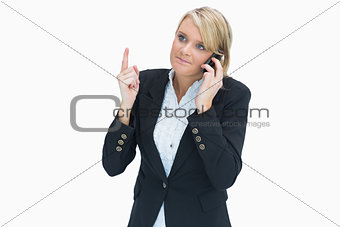Woman giving out on phone