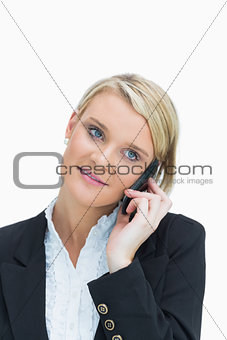 Woman calling on cell phone