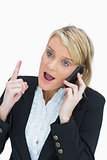 Woman arguing on phone