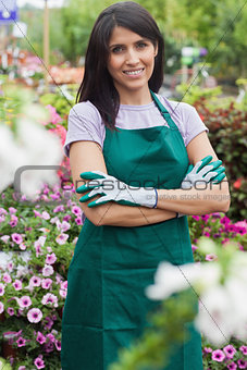 Female garden center worker