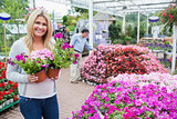 Female customer in garden center