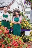 Garden center workers