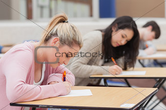 Students in the exam hall
