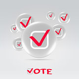 Vote badges