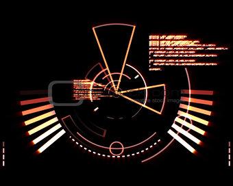 Abstract orange radar