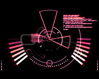 Abstract pink radar