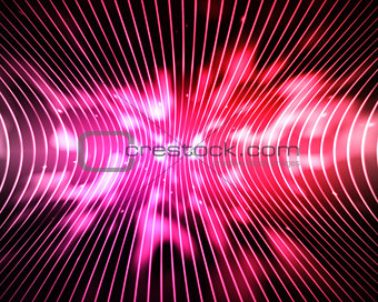 Abstract pink and red lines