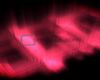Abstract luminous pink squares