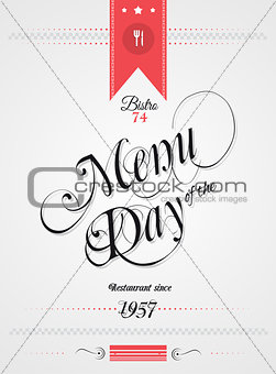 Old Style Vintage Menu of the Day background template