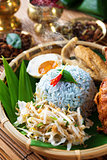 Malay rice dish nasi kerabu