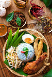 Malay food nasi kerabu