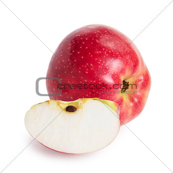 one red apple and lobule