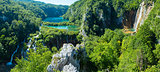 Plitvice Lakes National Park (Croatia) panorama.