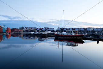 boats at Reitdiephaven in Groningen