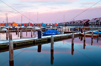 marina at Reitdiephaven during sunrise