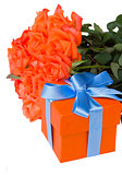 bouquet of  orange with gift box