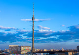 Moscow Ostankino Tele Tower evening