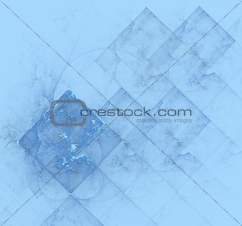 Pale blue texture with abstract geometric designs