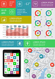 Infographics and web elements featuring flat design. EPS10 vector illustration.