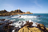 Corbiere lighthouse in Jersey, The Channel Islands