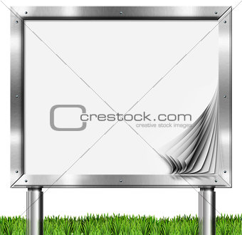 Chrome Billboard with Blank Pages