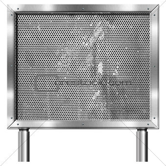 Chrome Billboard with Metal Grid
