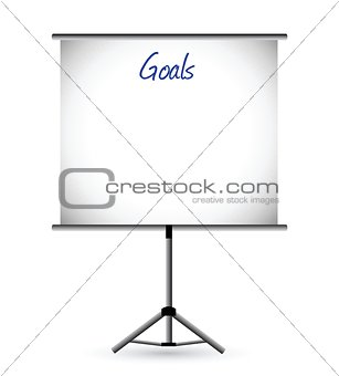 goals presentation board illustration design