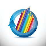 color pencils education concept