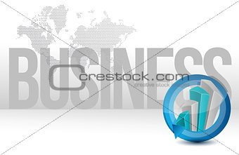 business graph cycle world illustration design