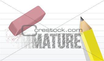 change immaturity concept illustration design