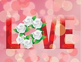 Love flowers illustration designs