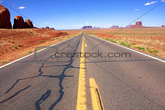 The Classic Western Landscape in Monument Valley ,Utah