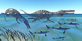Suchomimus Hunting Fish