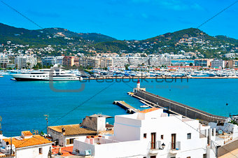 port of Ibiza Town, in Ibiza, Balearic Islands, Spain