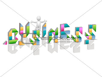 Business label on a white background