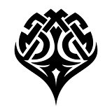 Celtic ornament tattoo black and white