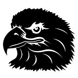 head of an eagle tattoo black and white