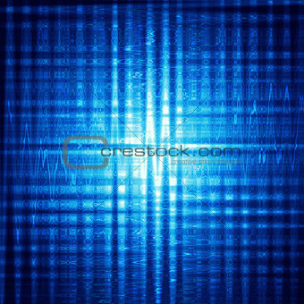 abstract blue background with shining squares