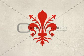 Grunge Florence city flag